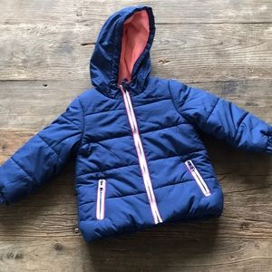 Carters Girls Jacket 24M New with Tags Navy/Pink